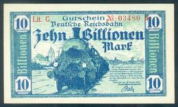 Deutschland, Germany, Deutsche Reichsbahn - Karlsruhe , 10 Billionen Mark, 1923 ! - 10 Billionen Mark