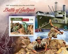 MALDIVES 2016 SHEET BATTLE OF GALLIPOLI WWI FIRST WORLD WAR PREMIERE GUERRE MONDIALE PRIMERA GUERRA MUNDIAL Mld16808b - Maldives (1965-...)