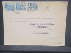 ESPAGNE - Enveloppe En Recommandé De Lérida Pour Genève En 1944 Avec Censure De Lérida, Affr. Plaisant - L 7440 - Marcas De Censura Nacional