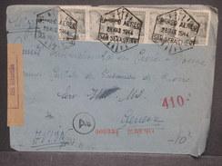 ESPAGNE - Enveloppe De San Sébastien Par Avion  Pour Genève En 1944 Avec Censure , Contrôle Postal, - L 7442 - Marcas De Censura Nacional