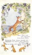 THE FOX AND THE GRAPES LE RENARD ET LES RAISINS CARTE ANGLAISE TIMBRE ANGLAIS - Animals