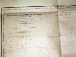 De Langrune à L'entrée De La Dives Embouchure De L' Orne Map Grande Carte 70X100cm Env - édition De 1911 - Nautical Charts