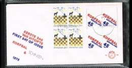 1978 - Netherlands E166 With Blocks Of 4 - 18th IBM Chesstournament - 75 Years Korfball [A202_097] - FDC