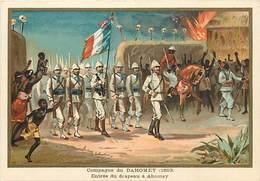 Ref R909- Militaires - Militaria -illustrateur G Germain - Campagne Du Dahomey -entree Du Drapeau A Abomey  - - Dahomey