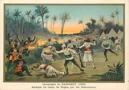 Ref R907- Militaires - Militaria -illustrateur G Germain - Campagne Du Dahomey -attaque Du Camp De Dogba Par Les Dahome- - Dahomey