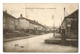 15528    Cpa  CELLES Sur PLAINE  : La Grande Rue  1925   ( Pli Sur La Hauteur  ) - France