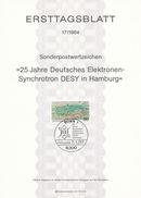 BRD / First Day Sheet (1984/17) 5300 Bonn 1: The Deutsches Elektronen-Synchrotron (DESY = German Electron Synchrotron) - Sciences