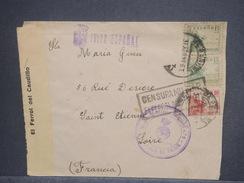 ESPAGNE - Enveloppe  D' Un Soldat De Ferrol Pour La France En 1939 Avec Censure , Contrôle Postal, - L 7443 - Marcas De Censura Nacional
