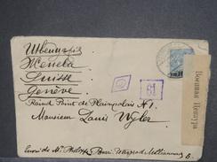 RUSSIE - Enveloppe De Pétrograd Pour La Suisse En 1917 Avec Contrôle Postal - L 7448