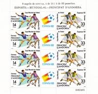 Andorra, Sp., 1982, 155/56, Fußballweltmeisterschaft, Spanien.  MNH **, KlBg - Unused Stamps