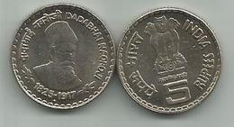 India 5 Rupees 2003. KM#308  Dadabhai Naoroji - Inde