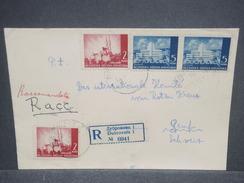 CROATIE - Enveloppe En Recommandé De Dubrovnik Pour La Croix Rouge En Suisse En 1943 Avec Contrôle Postal - L 7458 - Croatie