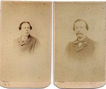 CDV - 2 Photos De  SILLI - Photographe De S.AR.M. Le Prince Oscar De Suède Et De Norvège  A NICE (06)      (96280) - Photos