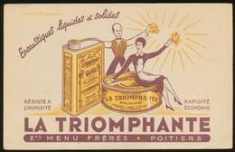 Buvard  -  LA TRIOMPHANTE - Encaustique - Buvards, Protège-cahiers Illustrés
