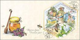 Belarus 2016 Bees Bl. MNH + FDC - Belarus