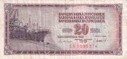 YOUGOSLAVIE   20 Dinara   4/11/1981   P. 88b - Yugoslavia