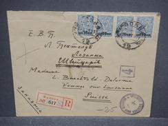 RUSSIE - Enveloppe En Recommandé De Moscou Pour La Suisse En 1918 Avec Contrôle Postal , Affr. Plaisant - L 7466