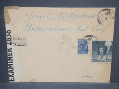 U.R.S.S. - Enveloppe Pour La Croix Rouge En Suisse En 1945 Avec Contrôle Postal , Affranchissement Plaisant - L 7467 - 1923-1991 USSR