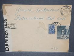 U.R.S.S. - Enveloppe Pour La Croix Rouge En Suisse En 1945 Avec Contrôle Postal , Affranchissement Plaisant - L 7467