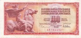 YOUGOSLAVIE   100 Dinara   12/8/1978   P. 90a - Yugoslavia