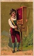 1Trade Card Music Instrument Orgue De Barbarie Rotary Organ PUB Cholozan Fr Nimes Imp Cuerbe-Rouzet Litho - Autres