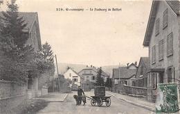 90-GIROMAGNY-LE FAUBOURG DE BELFORT- ATTELAGE DE CHIEN - Giromagny