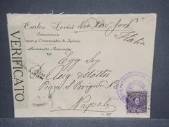 VENEZUELA - Enveloppe Commerciale De Maracaibo Pour Naples En 1918 Avec Contrôle Postal , Affr. Plaisant - L 7474 - Venezuela