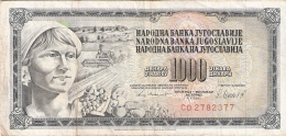 YOUGOSLAVIE   1000 Dinara   4/11/1981   P. 92d - Yugoslavia