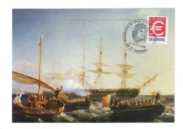 Bicentenaire Du Retour D'Egypte De Bonaparte, Saint Raphael 9 Octobre 1999, Napoleon, Bateau Par E. Meyer (17-599) - Paintings