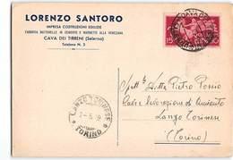 15161 03 SANTORO COSTRUZIONI EDILIZIE CAVA DEI TIRRENI SALERNO X LANZO TORINESE - 6. 1946-.. Repubblica