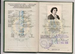 ITALIA 1964  PASSPORT -PASSEPORT - PASAPORTE  - REVENUE STAMPS - Issued At ITALIA Consulate In Buenos Aires - Documentos Históricos