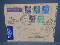FRANCE / ALGÉRIE  - Enveloppe En Recommandé De Alger En 1943 Pour Yaoundé Avec Contrôles Postaux - L 7482 - Algérie (1924-1962)