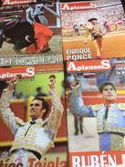 4 N° De Aplausos, Semanario Taurino (Hebdomadaire Des Corridas, Valencia, Espagne) N° 1615/1637/1638  & 1639: Ruben Pina - Magazines & Newspapers