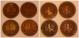 Lot 5 Coins NEDERLAND 1 CENT 1877 1878 1880 1883 + 2,5 CENT 1884. Lot 5 Pièces PAYS-BAS - [ 3] 1815-… : Koninkrijk Der Nederlanden