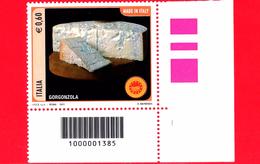 Nuovo - MNH - ITALIA - 2011 - Made In Italy - Formaggi - 0,60 € • Gorgonzola - Cod A Barre 1385 - Códigos De Barras