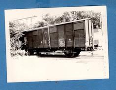 Paris 13eme La Glaciere Gare De Gentilly Photo Du 22-6-74 Photo Format 12,7x9 Wagon Couvert GB - Railway