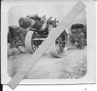 Obusier Anglais Camouflé Armée Italienne? 1 Photo 14-18 1914-1918 Ww1 1wk - War, Military