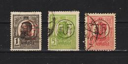 1918  -  Charles I Avec Surcharges F.P.T.T. Mi No 248/250et Yv No 258A/259( 10b Bordeaux) - 1918-1948 Ferdinand I., Charles II & Michel