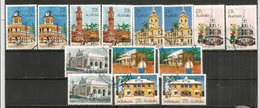 Les Bureaux De Poste Historiques En Australie (Melbourne,Sydney,Alice Springs,etc) 14 Timbres Oblitérés, 1 ère Qualité - Post