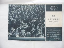 WW2 CALENDARIO MUSSOLINI PAGINA ESTRATTA OTTOBRE 1935. - Calendari