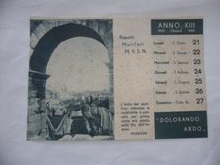 WW2 CALENDARIO MUSSOLINI PAGINA ESTRATTA OTTOBRE 1935 REPARTI MUTILATI M.V.S.N. - Calendari