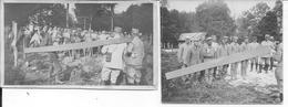 Pas De Calais Bouvigny Camp De Transit De Prisonniers Allemands Dans Les Bois Gardés Par Des Français 2 Photos 14-18 Ww1 - Guerre, Militaire