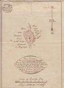 Vecchio Documento Dello Stato Pontificio Del 23 Marzo 1826, Pianta Del Catasto Dei Beni Comunali Di Mongiorgio - Europe