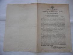 WW1 CITTà D'INTRA COMITATO DI ASSISTENZA CIVILE OPERE PRO PATRIA DEDICA E AUTOGRAFO I.CERETTI. - Calendari