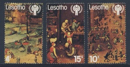 Lesotho 1979 B4 + Mi 278 /0 YT 383 /5 ** Children's Games By Brueghel - Int. Year Of The Child / Kinderspiele - Kindertijd & Jeugd