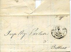 20855 Italia,parrocchiale Parish Of 1858 Showing Postmark St.fedele Martyrl, Circuled From Colico Como To Bellano - Italia