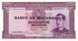 MOZAMBIQUE   500 Escudos  Emission Du 22 Mars 1967   Pick 118   ***** QUALITE  XF ***** - Mozambique