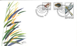Denmark FDC 14-5-2003 Rare Insects Complete Set Of 3 With Cachet - FDC