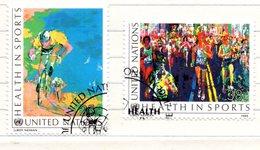 53 - NAZIONI UNITE ONU 1988 , Unificato Serie N. 519/520  Usata . Sport Ciclismo - Oblitérés