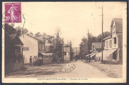 91 SAINTE GENEVIEVE DES BOIS  L'avenue De La Gare - Sainte Genevieve Des Bois